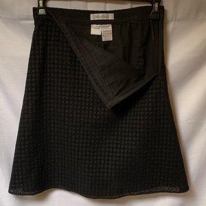 MaxMara Black Eyelet Skirt Size 4